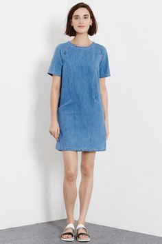 Check out this Denim Shift Dress from Warehouse.