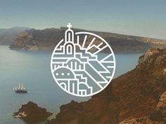 Creative Logo, Design, Santorini, and Greece image ideas & inspiration on Designspiration City Branding, Branding Design, Destination Branding, Logo Branding, Great Logo Design, Great Logos, Design Design, Logo Inspiration, Logo Voyage