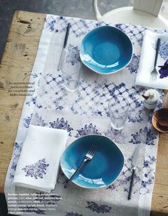 block printing - Photo from House and Home – May 2012, Styling – Margot Austin, Photography – Michael Graydon).
