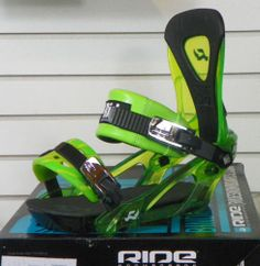 New 2014 Ride KX Snowboard Bindings Large Lime