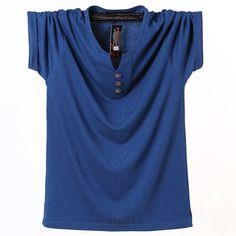5f3eb0c6db1 Man s T-shirt 2018 Summer Cotton Solid Men s Shirt Tops Tee Short Sleeve Tshirt  Plus Size 6XL 7XL 8XL Fitness Clothing ZZ172 Price  15.95   FREE Shipping  ...