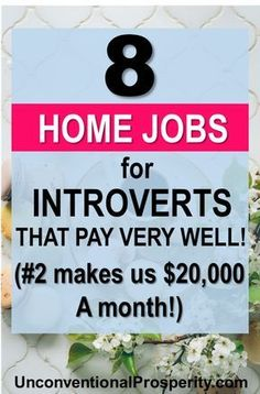 The 8 Best Home-Based Jobs for Introverts – Unconventional Prosperity 8 work from home jobs that will help make the transition to home based work super easy and flexible for your busy life. Home Based Work, Legit Work From Home, Legitimate Work From Home, Work From Home Jobs, Work At Home Companies, Ways To Earn Money, Earn Money From Home, Earn Money Online, Way To Make Money