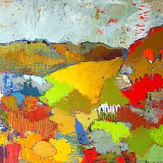 Landscape by jylian gustlin #colorful #abstract #art
