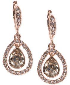 Givenchy Crystal Orbital Pavé Drop Earrings | macys.com