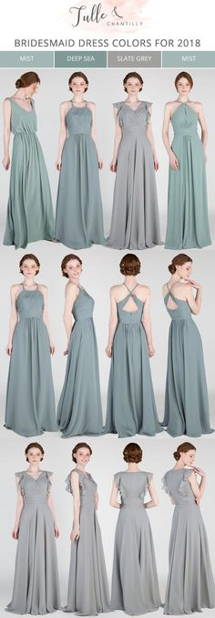 greenery bridesmaid dresses for 2018 trends #greenerywedding #bridesmaiddresses #bridalparty