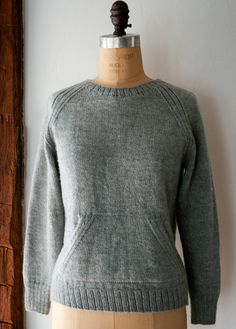 Knit your own Sweatshirt Sweater - the purl bee The Pattern Gauge 5 1/2 stitches = 1 inch in stockinette on larger needles   Sizes X-Small (Small, Medium, Large, X-Large)