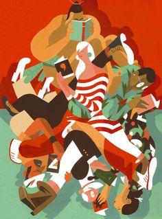 by Kolchoz [www.kolchoz.com] // #illustration #art #vector #shapes