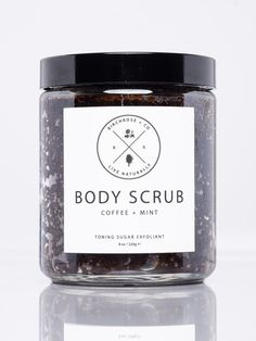 Birchrose + Co Body Scrub - Coffee + Peppermint | Domino #peppermintbodyscrub
