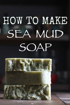 """I call this recipe """"beach therapy in a bar."""" If you've never tried making soap this is one of the easiest recipes to start with. Full photo tutorial in the post."""