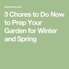 3 Chores to Do Now to Prep Your Garden for Winter and Spring