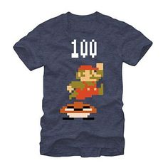 Nintendo Mario Goomba Plop Blue T-Shirt