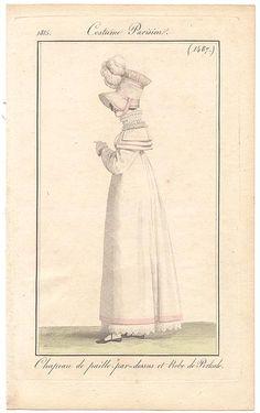 A pelisse-dress de percale. 1815 costume parisien