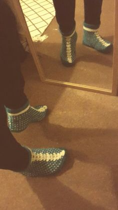 My awesome knitted slippers