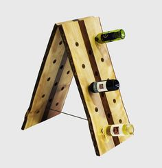 LUNCH WINE - raw-edged maple and she-oak wine rack holds 20 bottles