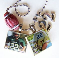 ONE Custom Designed SCRABBLE Tile PENDANT and Chain by BusyBree, $12.00