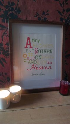 Baby loss word art print / Baby loss/ miscarriage / Angel baby print on Etsy, £6.50