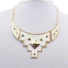 Trend Fashion Goldkette Gold weiss Neu (8355) Mode Shop www.secondhand-modemarkt24.de und www.chelsea-fashion-glamur.de
