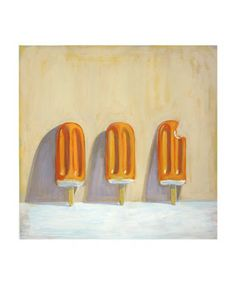 popsicle painting, still life,  orange creamsicle painting, 50-50 bar