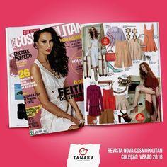 A nova coleção Tanara é TÃO linda que já está saindo nas revistas mais maravilhosas do país. Tá vendo essa página da @cosmopolitan.br? Tem um scarpin INCRÍVEL ali by Tanara Brasil