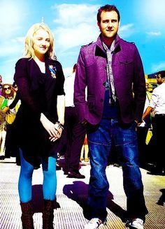 Evanna Lynch (Luna Lovegood) and Matthew Lewis (Neville Longbottom).