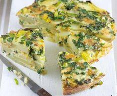 Bramborová omeleta s pórkem   Recepty Albert Food Test, Quiche, Breakfast, Morning Coffee, Quiches, Morning Breakfast, Custard Tart