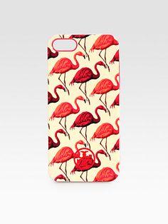Tory Burch - Flamingo Print Hard Shell Case For iPhone 5 - Saks.com - $50