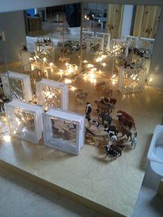 Mirrors, glass blocks, lights small world invitation. love the glass blocks and lights. Reggio Classroom, Classroom Activities, Classroom Design, Activities For Kids, Preschool Centers, Play Based Learning, Learning Spaces, Montessori, Block Area