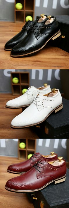 US $27.01<Click to buy> 2018 High Quality Leather Men Brogues Shoes Lace-Up Bullock Business Dress Men Oxfords Shoes Formal Calcado Homme Burgundy