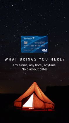With the Travel Rewards credit card you can get where you want to go with ease. Any airline, any hotel, anytime. No blackout dates. Learn more.