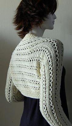 Lace Rib Knit Shrug pattern by Dawn Leeseman free on Ravelry at http://www.ravelry.com/patterns/library/lace-rib-knit-shrug