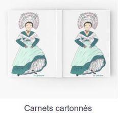 Un petite carnet décoré de costume traditionnel de France.Plus original que avec les chats, chiens ou autre écureuil, non !? Sur REDBUBBLE