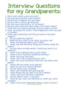 your children know the life stories of their grandparents? Let this printable and post encourage you to ask.Do your children know the life stories of their grandparents? Let this printable and post encourage you to ask. Personal History, History Projects, Family Genealogy, Lds Genealogy, Genealogy Forms, Interview Questions, 100 Questions, Life Questions, Just In Case