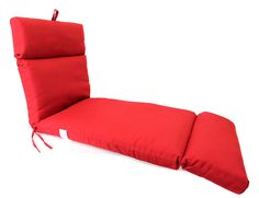 Awesome Patio Chaise Lounge Cushions Red Color