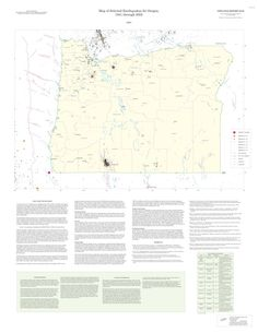 Map of selected earthquakes for Oregon, 1841 through 2002, by the Oregon Department of Geology and Mineral Industries