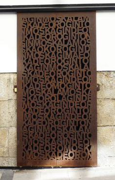 Rusted steel door | Photo by 08023 Architects - Barcelona | #Doors #Architects