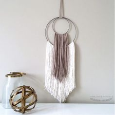 Creating a Yarn Wall Hanging is very simple and the results are stunning! Easy DIY Craft Tutorial Ideas for Inexpensive Home Decor. Yarn Wall Art, Wall Hanging Crafts, Metal Tree Wall Art, Yarn Wall Hanging, Wall Hangings, Art Yarn, Diy Hanging, Metal Art, Art Diy