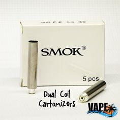 Filled with a cotton poly-fill, dual coil cartomizers hold plenty of Vape Escapes juice while utilizing two heating elements for twice the vapor.  *All hardware sales are final.