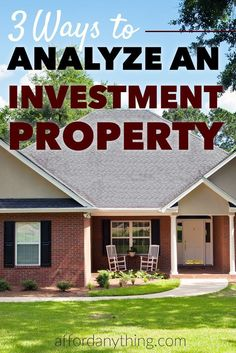 Learn how to apply the 3 formulas I use to analyze real estate investments to see whether or not a property is a good deal - and learn what calculations to avoid. Should You Invest in This Rental Property? Sven Hoppe sven_hoppe a immo Learn how to Buying Investment Property, Income Property, Rental Property, Investment Companies, Investment Advice, Property Investor, Investment Firms, Property Guide, Investment Casting