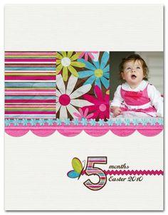 5 Months   Cheryl Overton #simple #scrapbook #layout