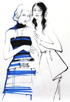 Illustrations for Dior. Part #1-markers on Behance