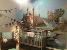 Harry Potter themed nursery. Gender neutral & totally awesome