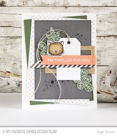 Geometric Greenery Stamp Set and Die-namics, Cool Cat Stamp Set and Die-namics, Distressed Patterns, Traditional Tags STAX Die-namics, Stitched Rectangle STAX Die-namics - Inge Groot  #mftstamps