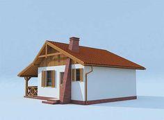 Projekt domu Tuluza dom letniskowy 35,62 m2 - koszt budowy 47 tys. zł - EXTRADOM Home Fashion, House Styles, Home Decor, Homes, Home Interior Design, Decoration Home, Home Decoration