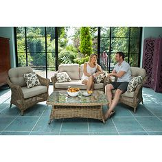 Buy LG Outdoor Saigon Colonial Weave Café Lounge Set from our Conservatory Furniture range at John Lewis & Partners.