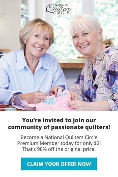 Here's your chance to take your quilting skills to higher levels for only $2. Get a whole year of expert instruction, new ideas and amazing patterns. Quilting Tutorials, Quilting Projects, Art Projects, Laundry Basket Quilts, Summer Dress Patterns, Patchwork Quilt Patterns, Youre Invited, Square Quilt, Squares