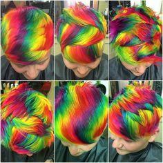 Unique rainbow hair