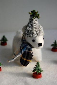 Winter Polar Bear, $55