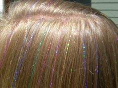Hair tinsel, Hair Crystals, Caliglimmers Sparkle hair bling - How to Tie