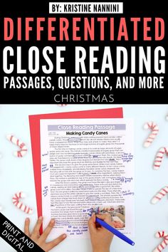 Christmas Close Reading Passages, & Text-Dependent Questions - Your upper elementary students will be Close Reading experts with this great resource. You get 45+ pages of materials for the 3rd, 4th, 5th, or 6th grade classroom or homeschool. These work great during the month of October to learn about making candy canes, caribou, holiday lights, & more! {third, fourth, fifth, sixth graders} #Fall #Christmas #UpperElementary #CloseReading