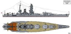 Soon after the design work on the Yamato class battleships finished and the first ships launched preliminary work was started on what to build which wou. Super Yamato class possible variant A Yamato Class Battleship, Imperial Japanese Navy, Navy Ships, Military, Deviantart, World, Hanger, Illustrations, Design